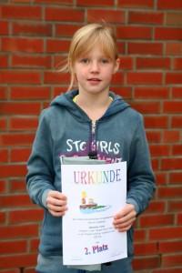 Zweitplatzierte in der Bezirkswertung Schüler 1 weiblich: Geesche Viets