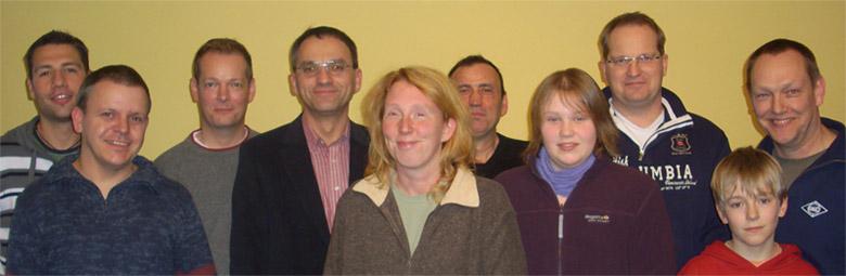 von links nach rechts: Etienne Gruchmann, Klaus Lemkau, Hartmut Holsten, Arno Gundlack, Sandra Viets, Bayram Asyk, Joana Müller, Gerd Gollenstede, Steffen Jakobs, Bernd Jakobs