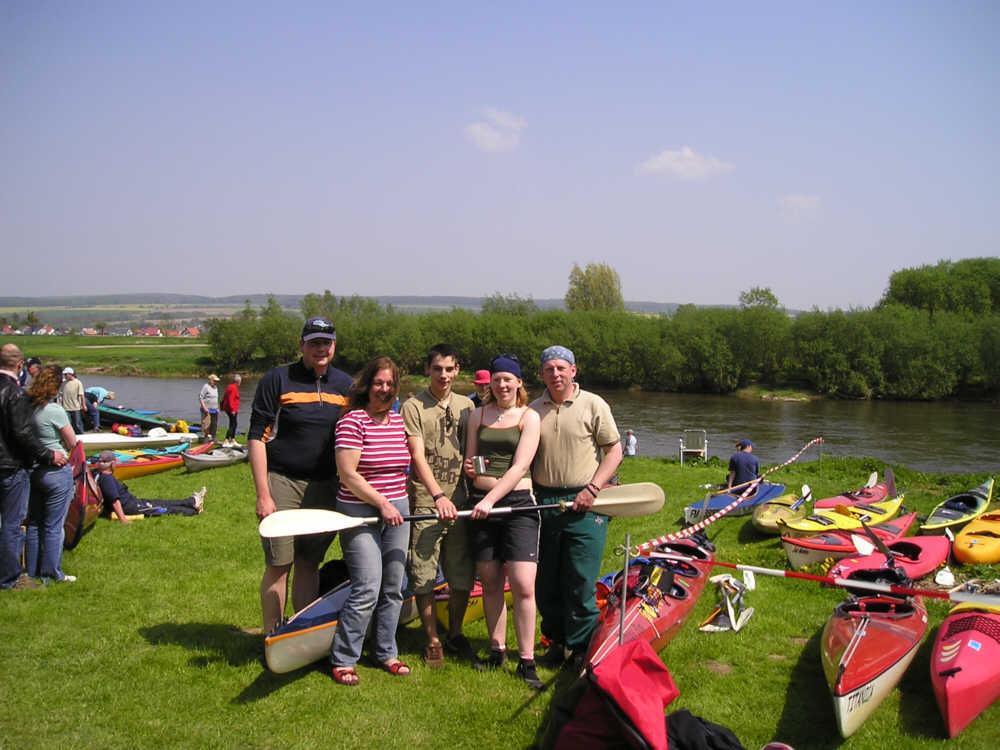 Ottersberger Kanuten beim Weser-Marathon