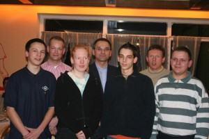 Bild 2: (von links) Marc Gundlack, Hartmut Holsten, Rebecca Blendermann, Arno Gundlack, Armin Viets-Blendermann, Klaus Lemkau